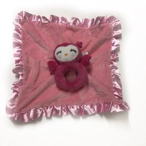 Carter's Pink Satin Baby blanket with Owl …